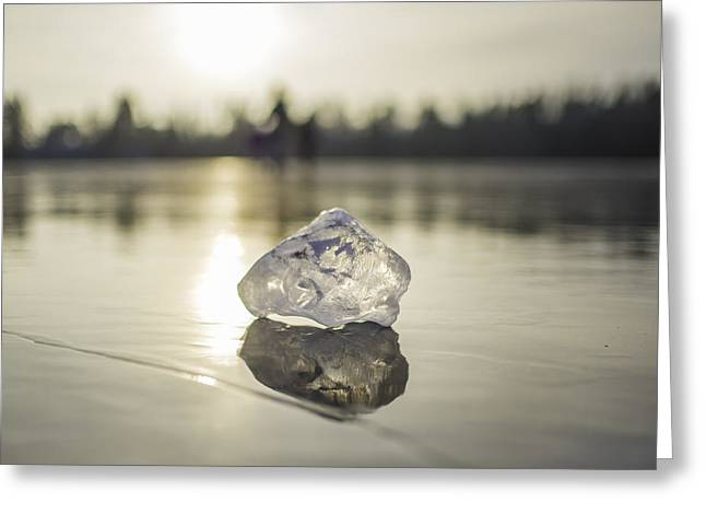 Ice Puck On Little Rock Lake Greeting Card