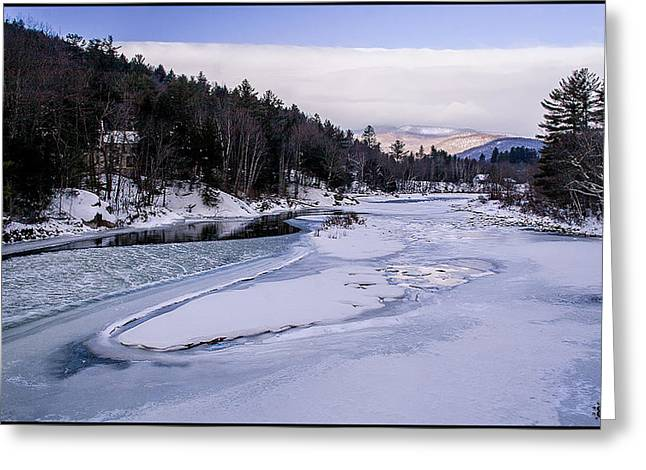 Ice River Greeting Card by Christine Nunes