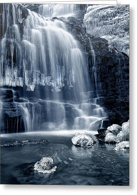Ice Rocks At Scaleber Force Falls Greeting Card by Chris Frost