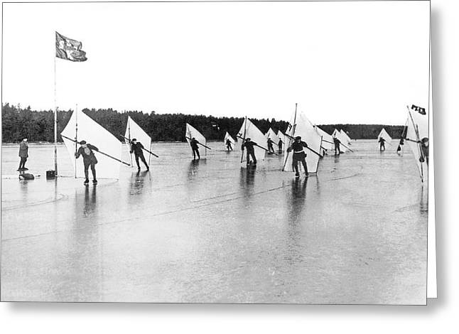 Ice Sail Race In Sweden Greeting Card