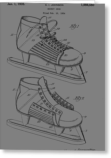 Ice Skate Patent Greeting Card