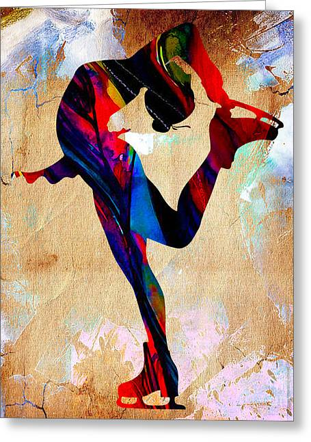 Ice Skater Greeting Card
