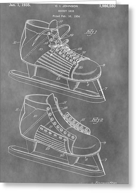 Ice Skates Patent Greeting Card