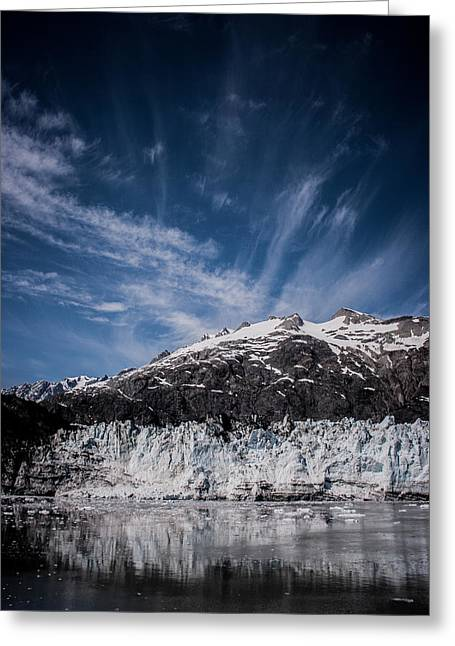 Ice Sky Water Greeting Card by Dayne Reast