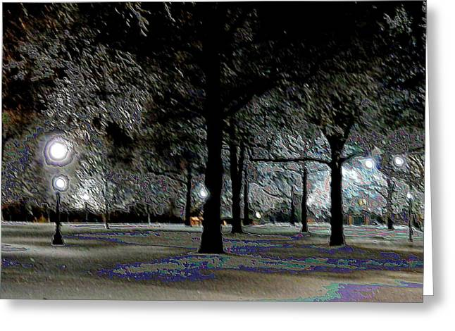 Ice Storm At Keeneland Greeting Card by Christopher Hignite