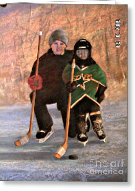 Ice Time Greeting Card
