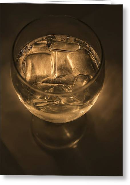 Ice Water By Candle Light Greeting Card by Angela A Stanton