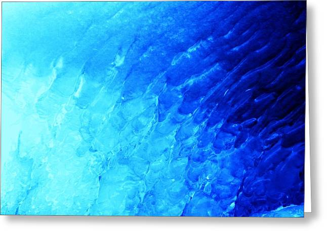 Ice Wave Greeting Card by Christian Rooney