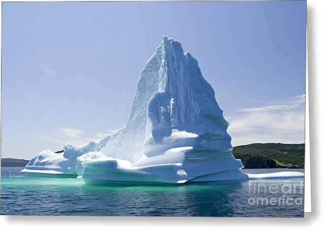 Greeting Card featuring the photograph Iceberg Canada by Liz Leyden