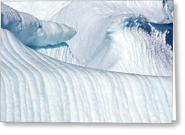 Iceberg Detail, Uummunnaq, Greenland Greeting Card