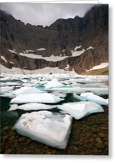 Greeting Card featuring the photograph Iceberg Lake by Aaron Whittemore