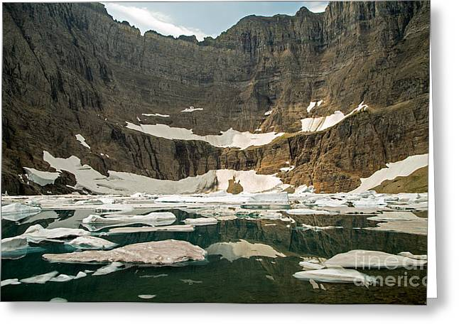 Iceberg Lake Greeting Card by Natural Focal Point Photography