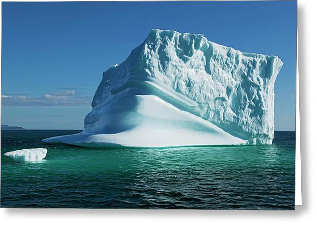 Iceberg, Near Hebron  Labrador, Canada Greeting Card by Carl Bruemmer
