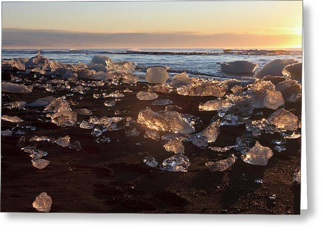 Iceberg Nuggets Shine Like Diamants Greeting Card by Tom Norring