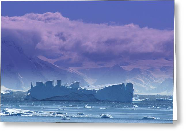 Iceberg Shipwreck Greeting Card by DerekTXFactor Creative