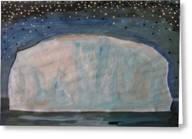 Greeting Card featuring the painting Iceberg by Vikram Singh