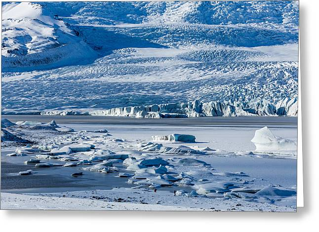 Icebergs Drifting In Fjallsarlon Greeting Card by Panoramic Images