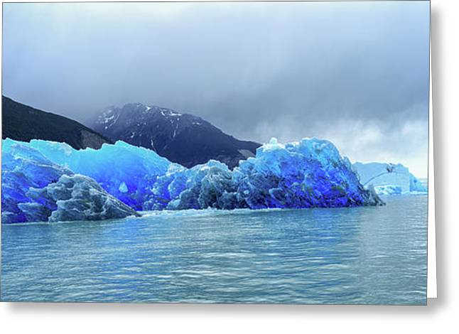 Icebergs Of Upsala Glacier, Southern Greeting Card by Panoramic Images