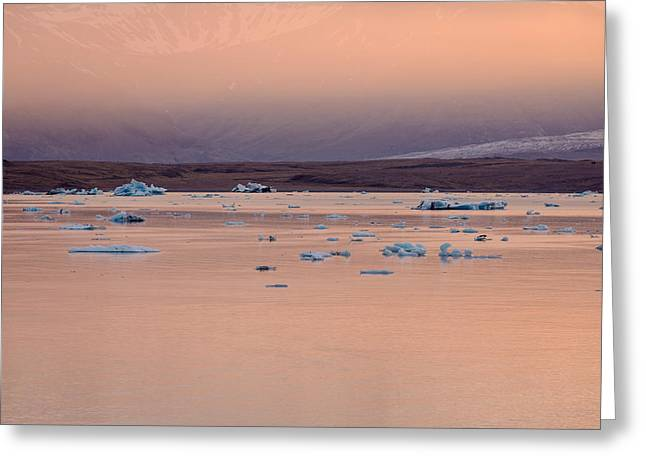 Icebergs On The Jokulsarlon Glacial Greeting Card by Panoramic Images