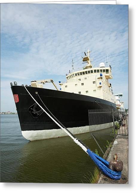 Icebreaker Ship Greeting Card