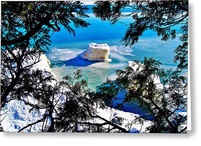 Iceberg  In Door County Wisconsin Greeting Card by Carol Toepke