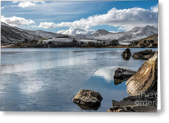 Iced Over Greeting Card by Adrian Evans