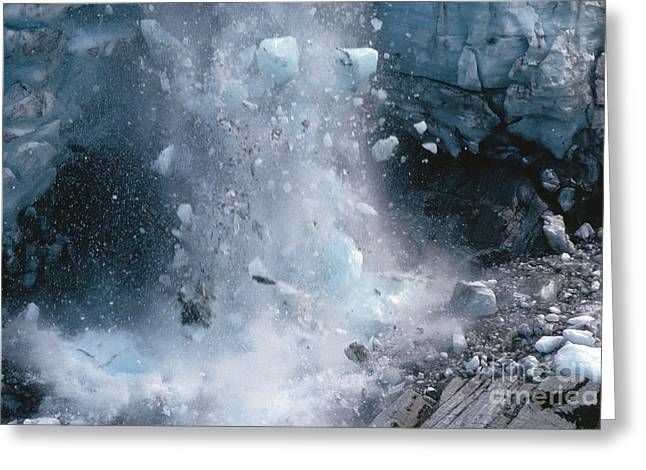 Icefall Greeting Card