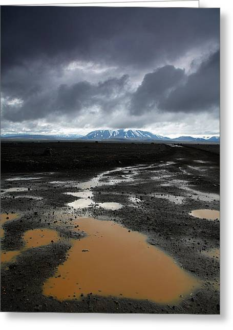 Iceland After The Rain Greeting Card by Nina Papiorek