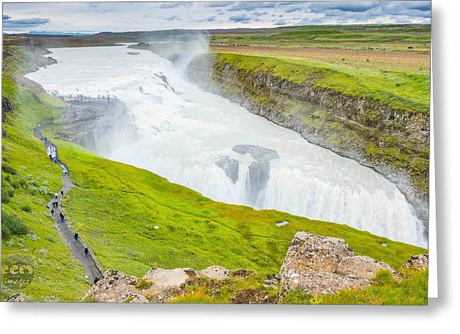 Gullfoss Waterfall Iceland Greeting Card by Cliff C Morris Jr