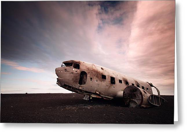 Iceland Douglas Dc-3 Greeting Card by Nina Papiorek
