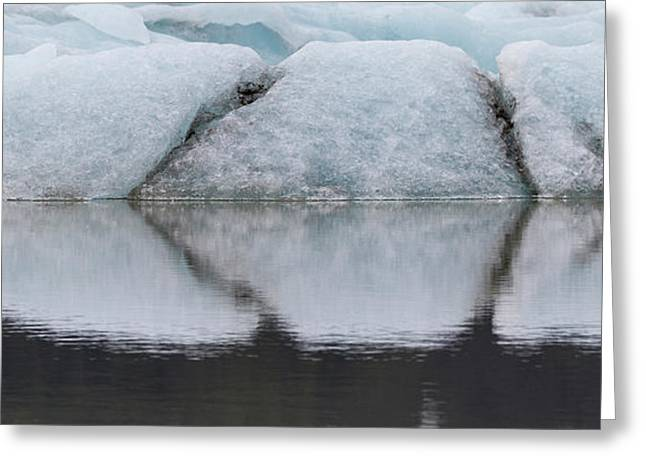 Iceland Fjallsjokull Glacier Reflects Greeting Card