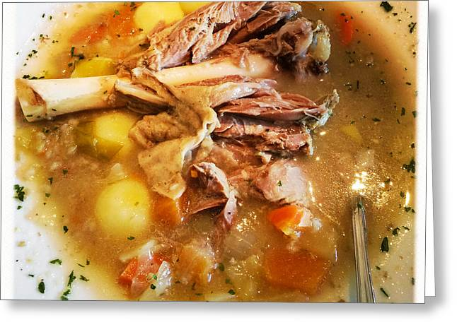 Iceland Food - Traditional Icelandic Lamb Soup Greeting Card