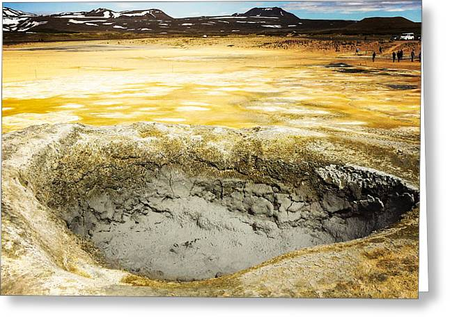 Iceland Geothermal Area Hverir Namaskard Greeting Card