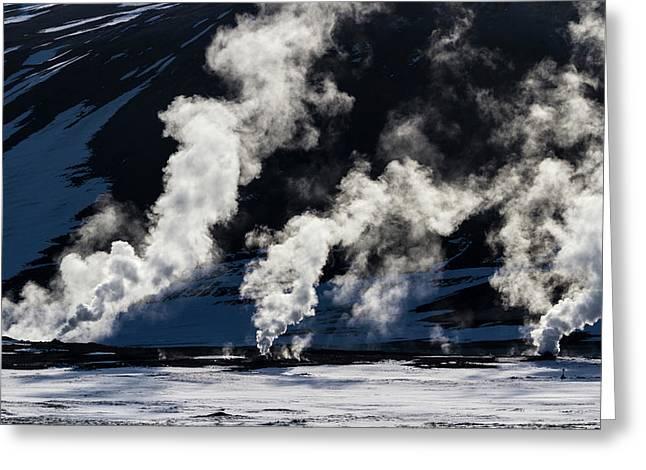 Iceland, Hverir Geothermal Steam Vents Greeting Card by Jaynes Gallery