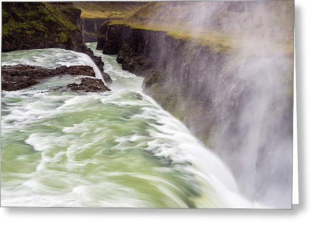 Iceland, Misty Gulfoss Greeting Card by Jaynes Gallery