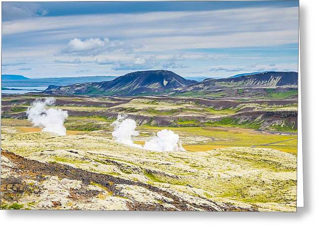 Iceland Outback Greeting Card by Cliff C Morris Jr