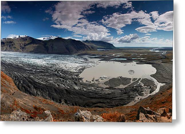 Iceland Skaftafell Greeting Card by Nina Papiorek