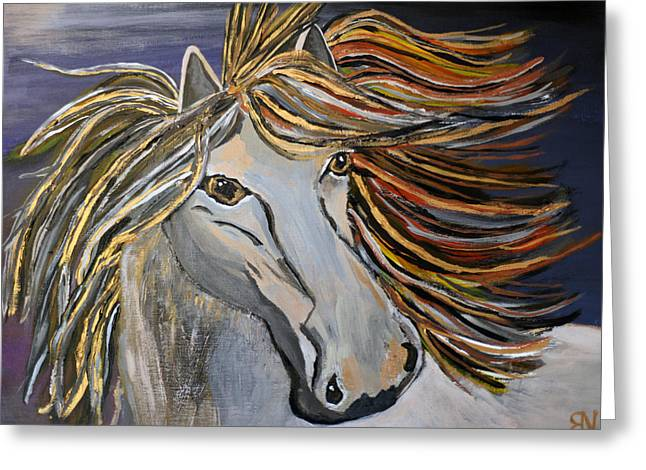 Icelandic Horse Greeting Card by Becki Nation