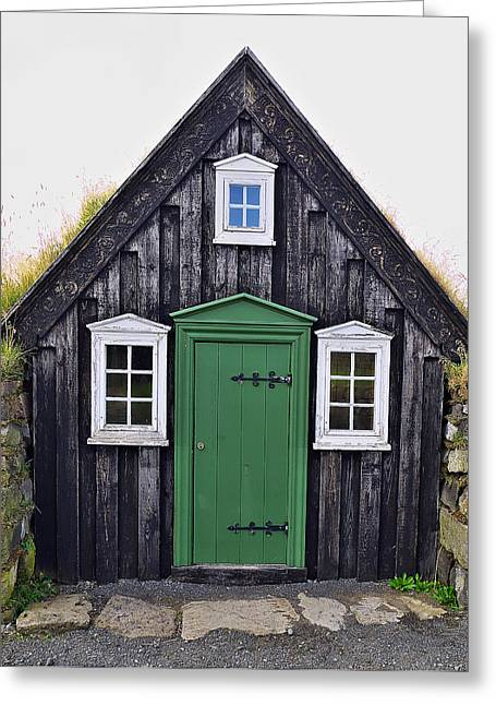 Icelandic Old House Greeting Card