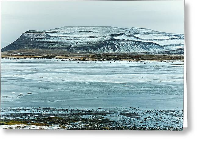 Icelandic Winter Landscape Greeting Card