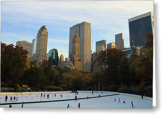 Iceskating In New York City Greeting Card
