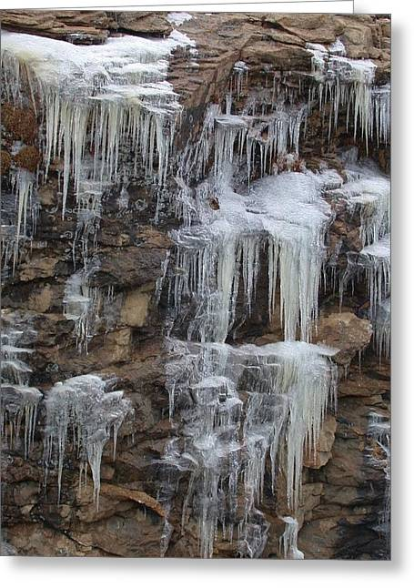 Icicle Cliffs Greeting Card