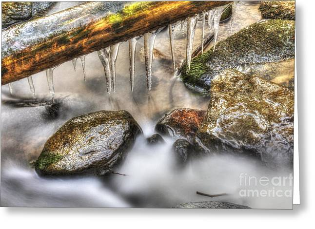 Icicles 2 Greeting Card