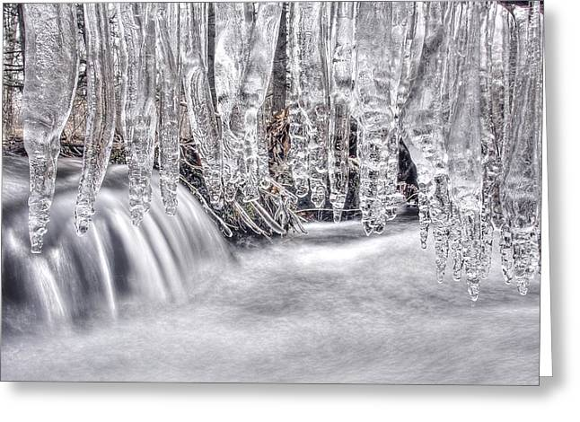 Icicles Greeting Card by Dawn J Benko
