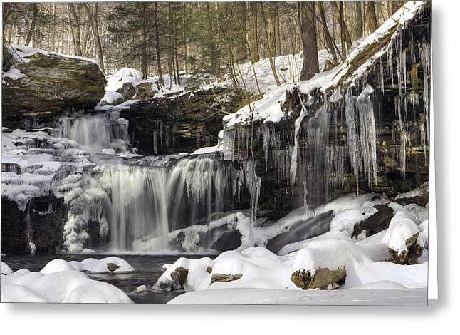 Icicles Decorate R. B. Ricketts Waterfall Greeting Card by Gene Walls