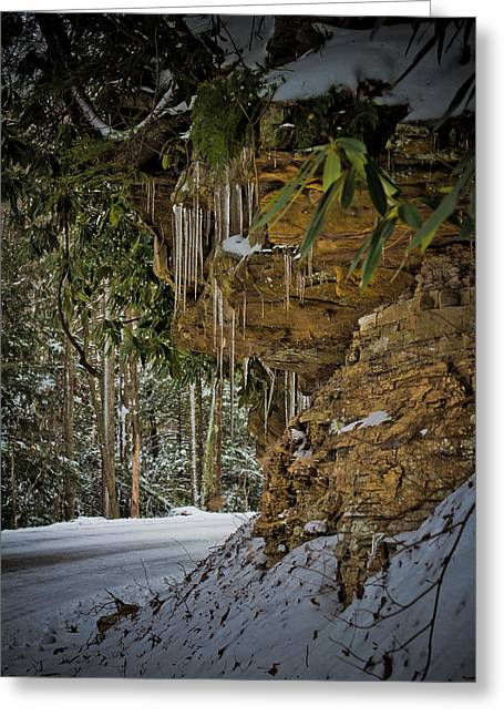 Icicles In Wv Greeting Card