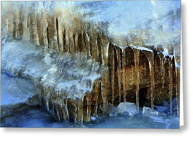 Icicles Greeting Card by Lynn Bawden