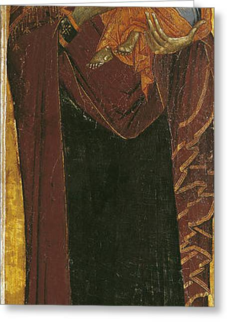 Icon Known As The Virgin Of Tsar Dushan, C.1350 Tempera On Panel Greeting Card