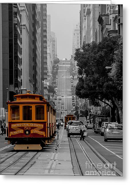 Iconic Cable Car Greeting Card