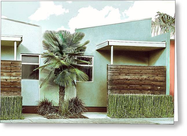 Iconic California Modern Architecture Greeting Card by Dorothy Walker